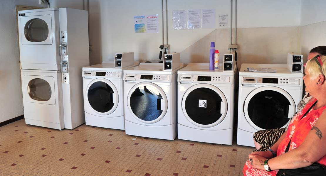 Washing machine and dryer available at La Plage campsite in Saint-Hilaire 85