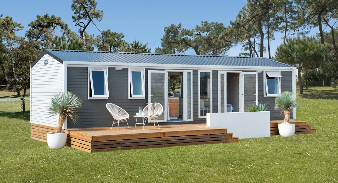 New mobile home for sale at Le Clos des Pins campsite near the beaches in Vendée