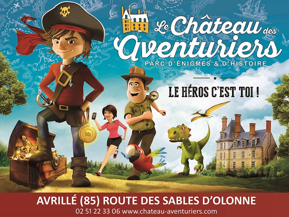 The Chateau des Aventuriers (entertainment park in Vendée near the campsite)
